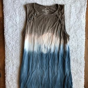 American eagle ombre brown/blue tank top small